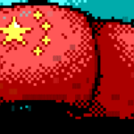 Chinese Flag Screen