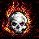 Flaming Skull BBS Theme